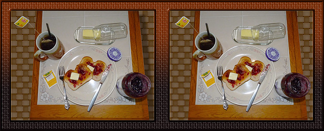 Tea'n'Toast'n'Jam Cross-eye 3D