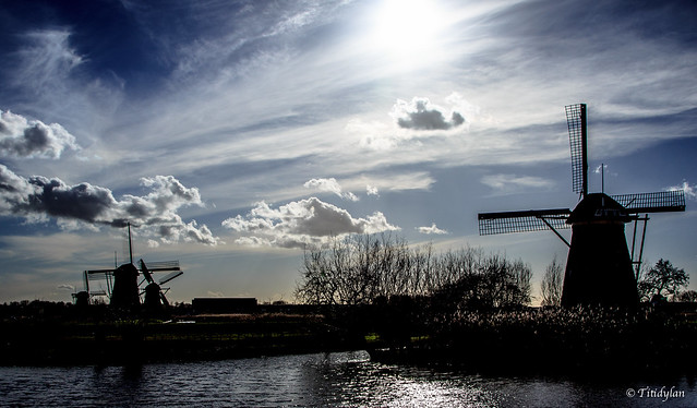 Backlight in Kinderdijk