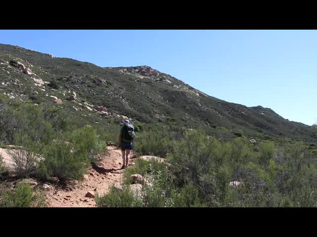 087 Panorama video from the PCT near mile 16 in Hauser Canyon