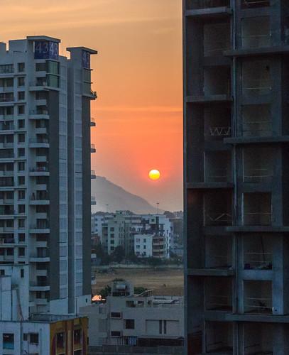 buildings landscape nature outdoor sun sunset urban