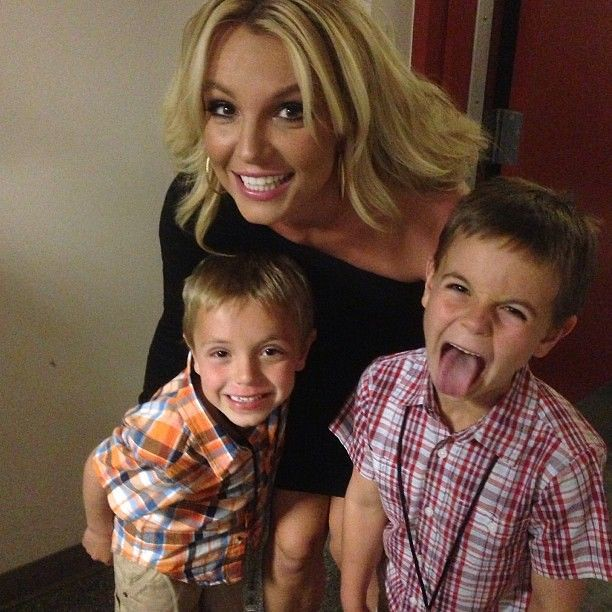 Britney and her two sons