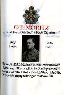 Moritz, Oscar Frank (1885-1916) | by sherborneschoolarchives