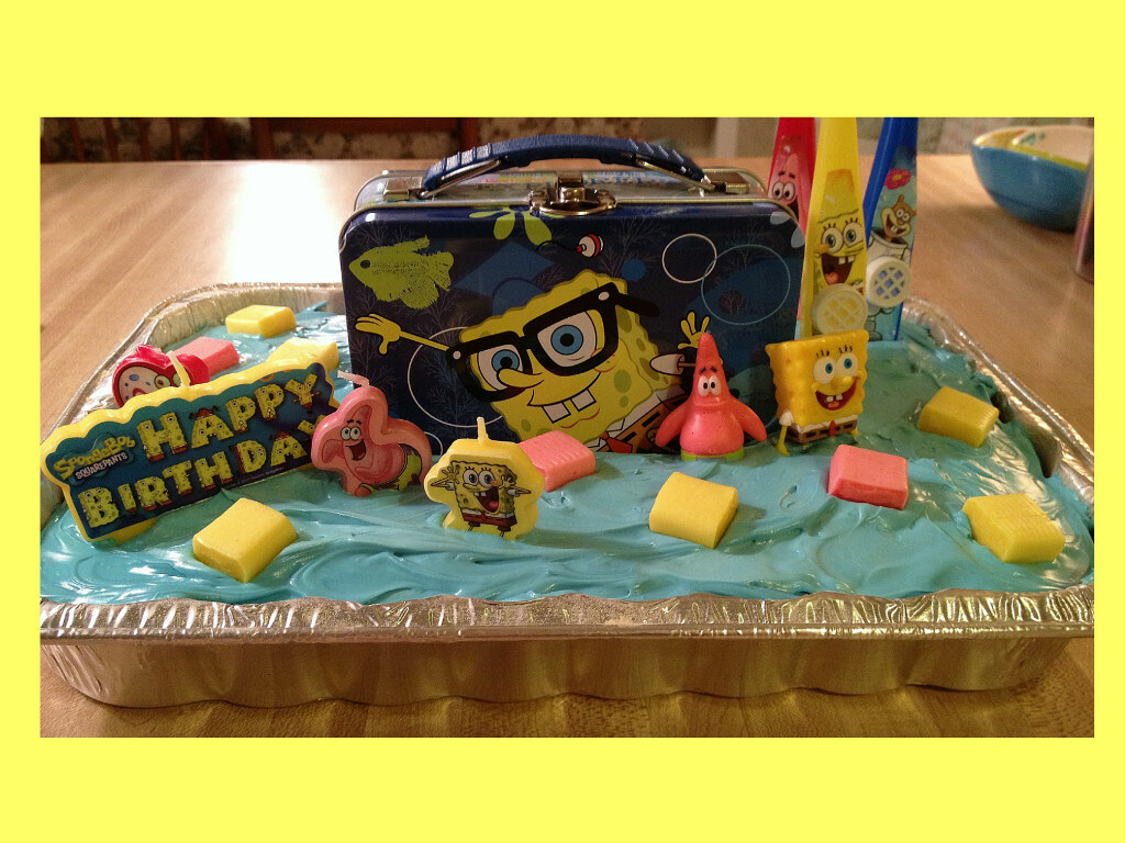 Remarkable Spongebob Cake By Katie Jackson Ms Birthdaycakes4Fr Flickr Funny Birthday Cards Online Fluifree Goldxyz