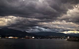 Looking at North Vancouver on a cloudy day | by moonstream