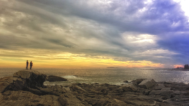 Sunset at Pemaquid Point, Maine