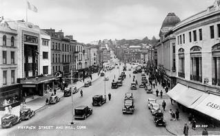 Tramless Patrick Street in Cork