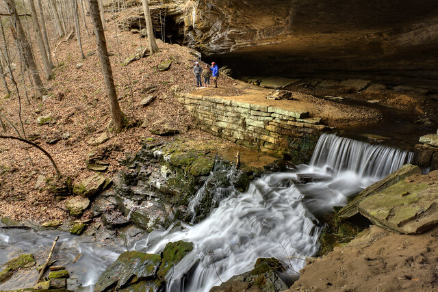The Old Mill Cave, Old Mill Cascade, White County, Tennessee