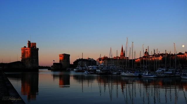 Lever de soleil sur la Rochelle