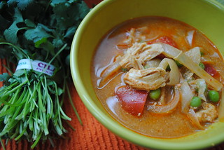 {Slow Cooker} Thai Coconut Chicken Soup | by Pamplemousse Blog