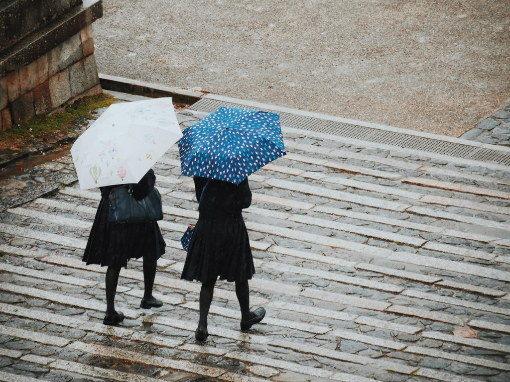 Two Girls in the a Rain