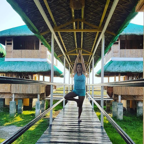 Bamboo interior soothens spirit. Back in the grind reflecting before going to walk and swim around the resort  #Lingayen #Pangasinan | by Jinkee Umali