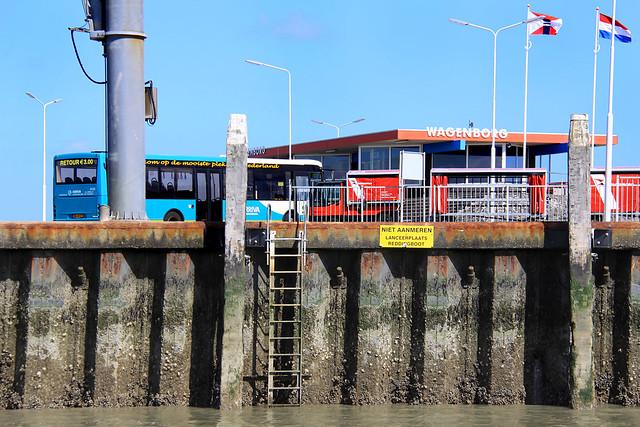 Schiermonnikoog: ferry dock ladder
