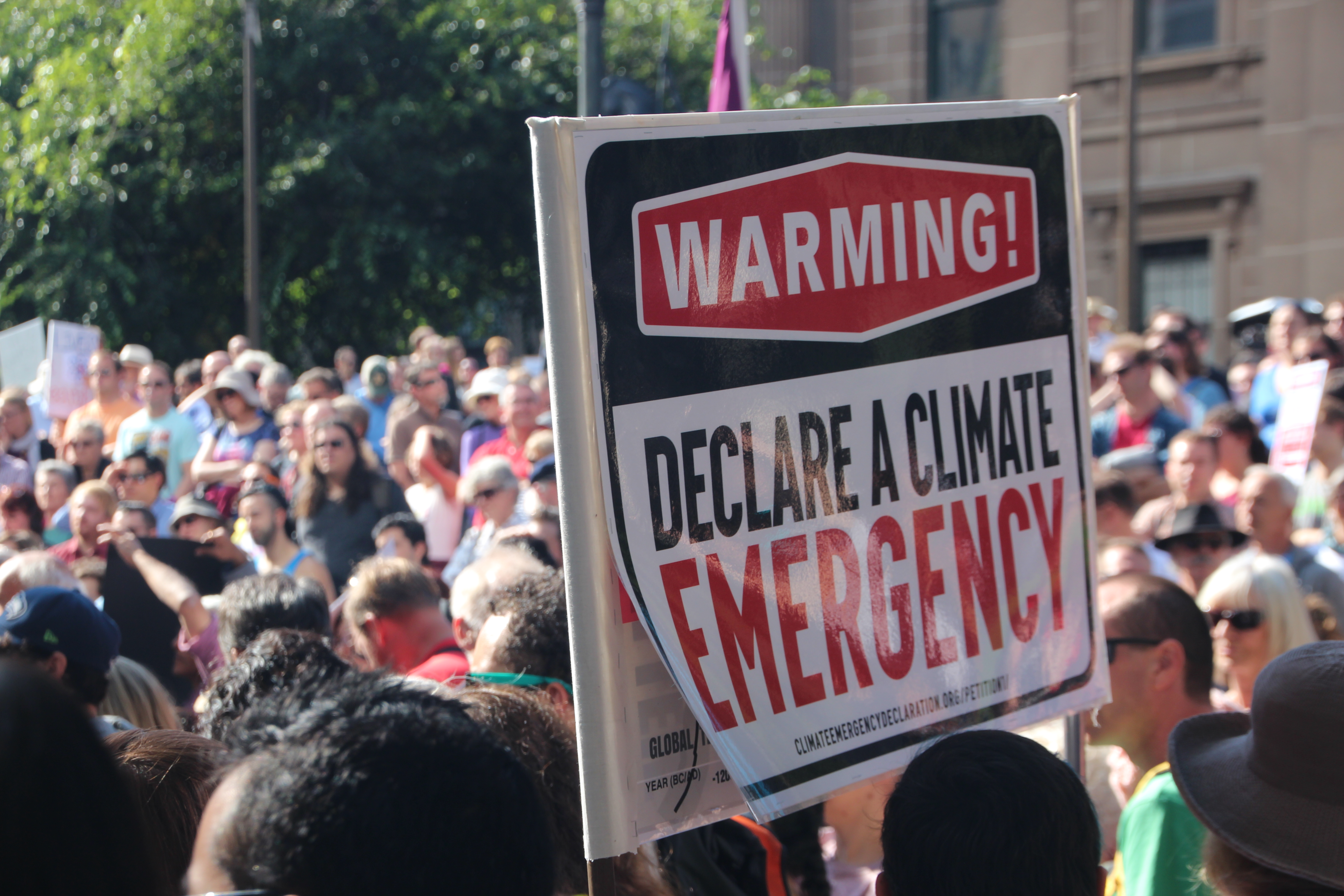Declare a climate emergency - Melbourne #MarchforScience on #Earthday