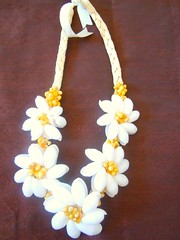 Fashion Jewelry New White Hawaiian Polynesian shell adjustable weave Necklace
