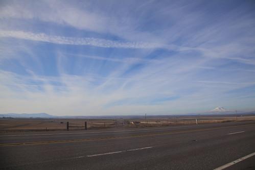 sky cloud mountain snow landscape us washington mt desert adams mount freeway wa us97