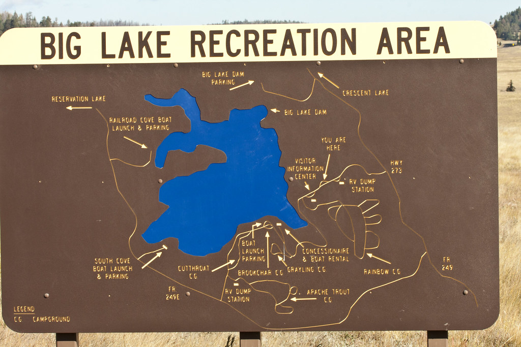 Roadside Map: Big Lake Area; White Mountains, Sitgreaves ...