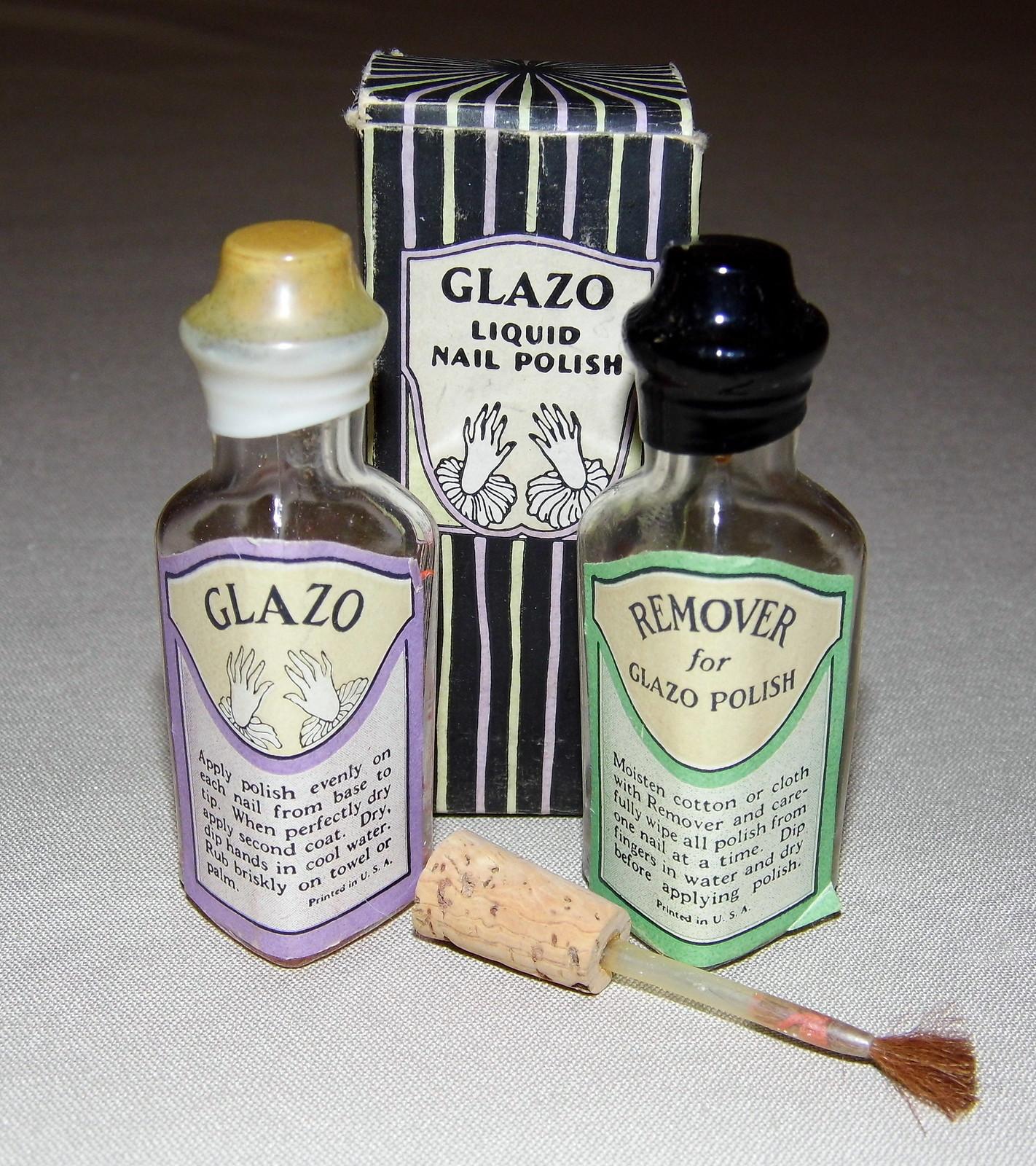 Vintage Glazo Liquid Nail Polish, The Glazo Company, Cincinnati ...