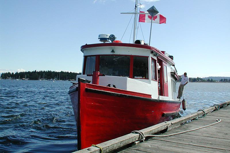 Ferry to Newcastle Island, Vancouver Island, British Columbia, Canada