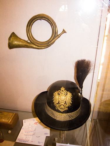 German postal hat and bugle | by quinet