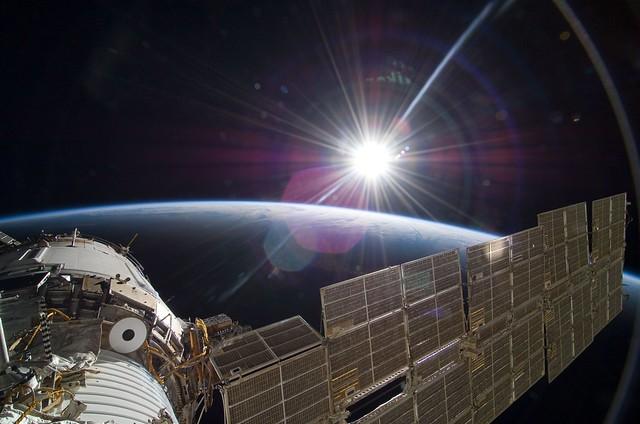 Sun Over Earth (NASA, International Space Station Science, 11:22:09)