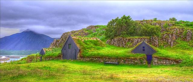 Torfbær. Old Icelandic house.