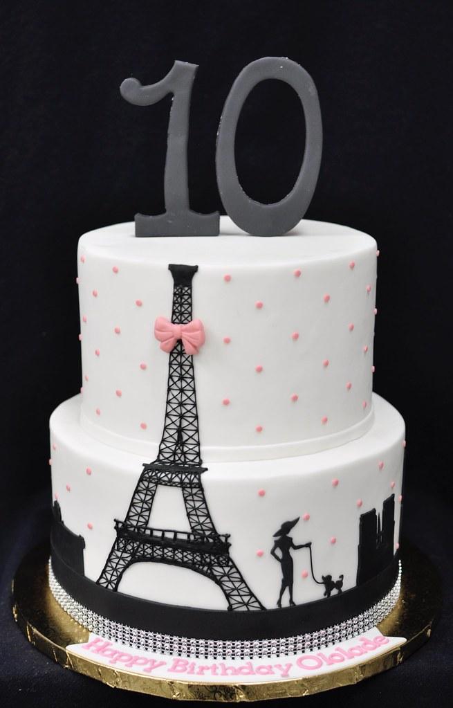 Fine Paris Themed Birthday Cake Jenny Wenny Flickr Funny Birthday Cards Online Alyptdamsfinfo