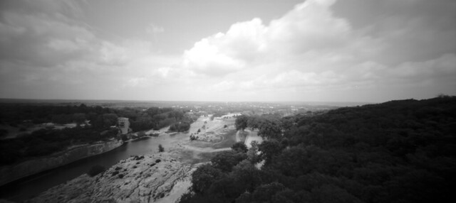 View on top of Pont du Gard