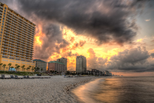sun beach gulfofmexico water clouds sunrise hotel sand nikon day cloudy fl pcb panamacitybeach d800 panamacitybeachfl nikond800 bryanjaronik