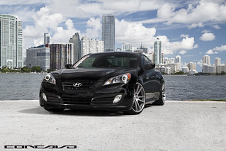 Hyundai Genesis on CW-S5 Matte Grey Machined Face | by Concavo Wheels