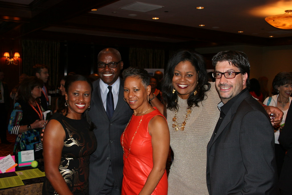 Chanda Rubin, Katrina Adams, Carl Lewis, Carol Lewis and her husband Gianluca
