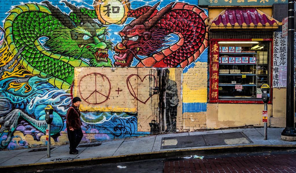 Chinatown Wall Art - Defaced Banksy, San Francisco | Flickr