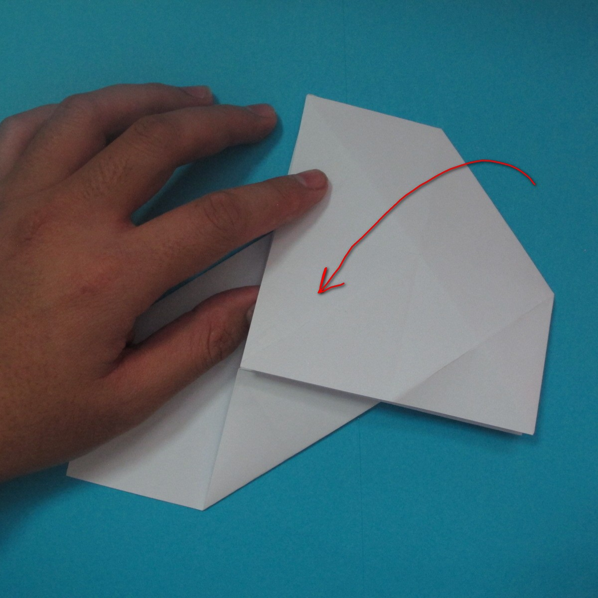 วิธีการพับกระดาษเป็นนกเพนกวิ้น 011