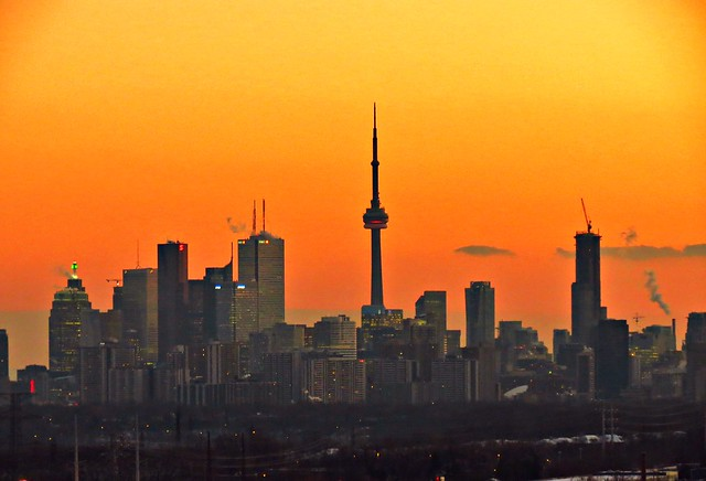Sunset, Downtown, Toronto, ON