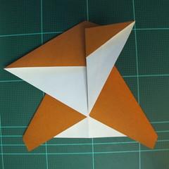 วิธีการพับกระดาษเป็นรูปกบ (แบบโคลัมเบี้ยน) (Origami Frog) 022