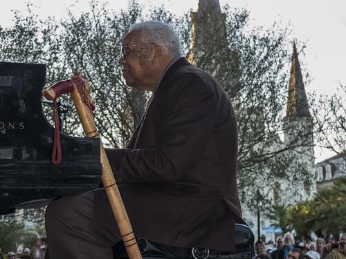 Ellis Marsalis in Jackson Square. Photo