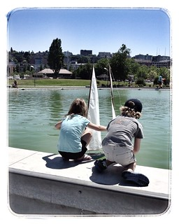 Small boats and kids
