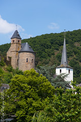 The castle and church