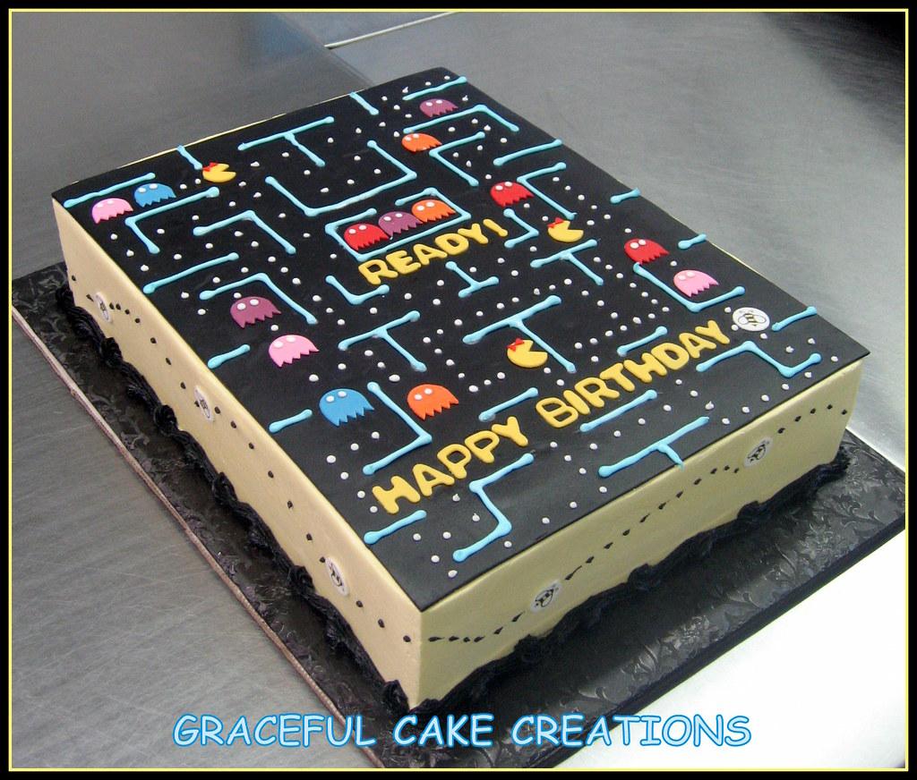 Prime Ms Pacman Birthday Cake Grace Tari Flickr Funny Birthday Cards Online Alyptdamsfinfo