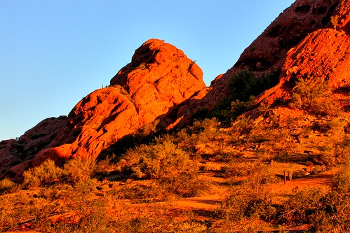 park sunset red arizona usa mountains southwest phoenix cacti sunrise rocks desert hiking sunny cliffs papago daytime sonoran municipalpark papagopark swees