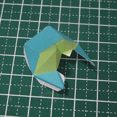 วิธีทำของเล่นโมเดลกระดาษรูปนก (Bird Paper craft ) 011