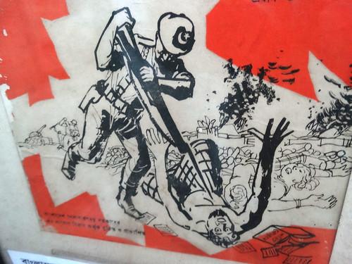 Nationalist Poster Depicting Pakistani Army Atrocities in 1971 - Liberation War Museum - Dhaka - Bangladesh | by Adam Jones, Ph.D. - Global Photo Archive