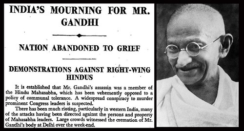 30th January 1948 - Death of Ghandi | by Bradford Timeline