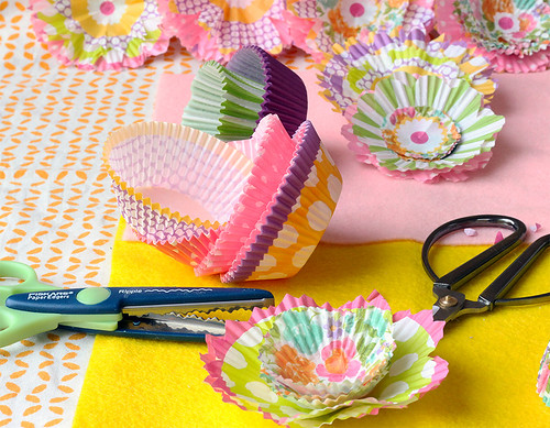 DIY Cupcake Liner Flowers | by Made In Our Kitchen