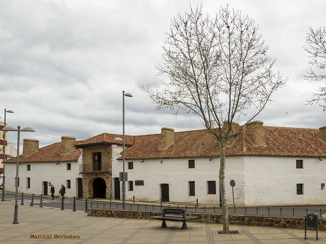 Spain - Ciudad Real - Almaden - Hexagonal bullring and hotel
