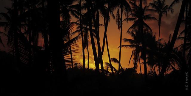 Sunset at Manzanilla