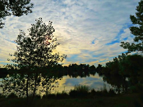 us jeffersoncounty lakewood lake morning reflection usa belmar kountzelake landscape paysage reflets america clouds colorado sandraleidholdt leidholdt