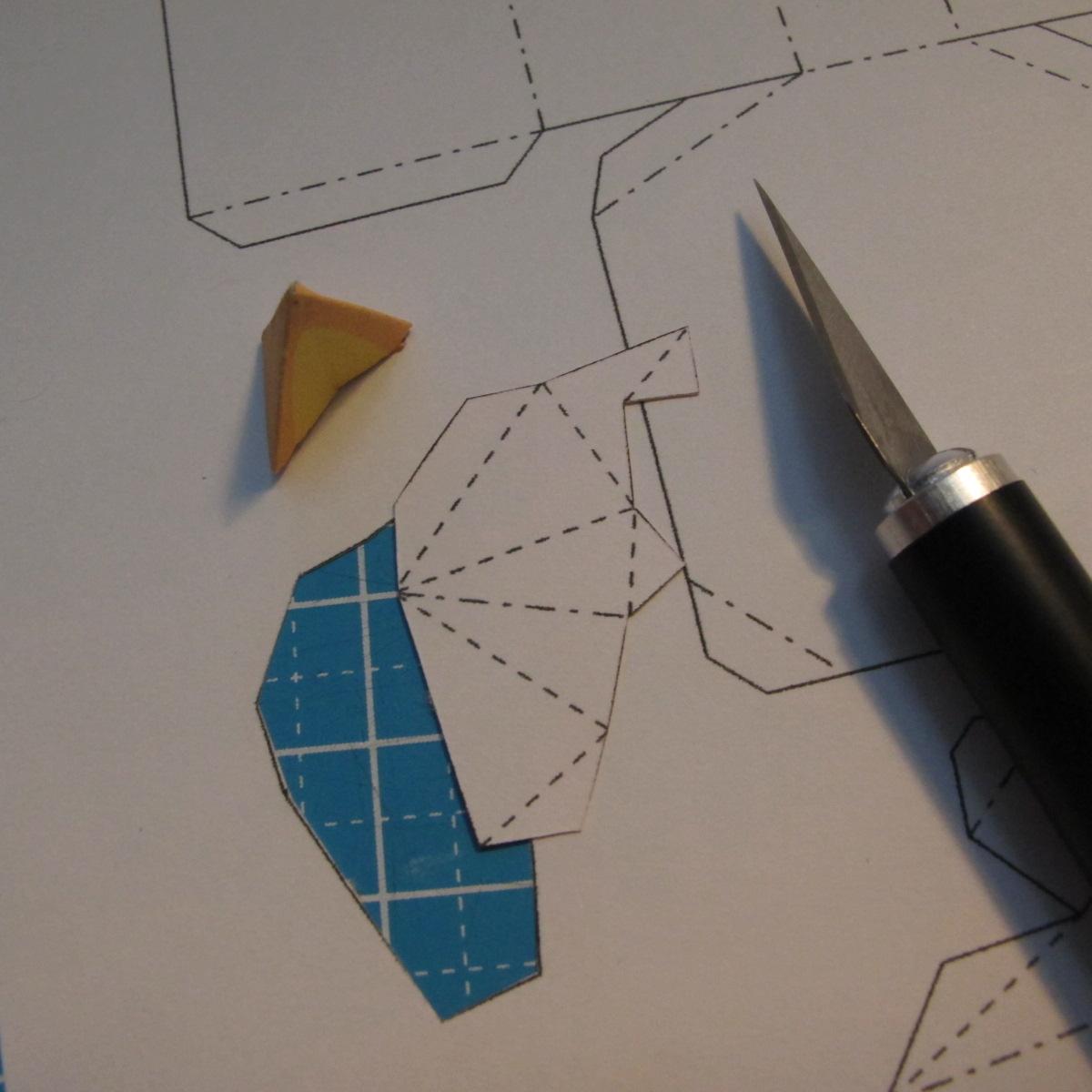 โมเดลกระดาษแมวบ้อง 003