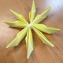 วิธีการพับกระดาษเป็นดอกบัวแบบแยกประกอบส่วน 017
