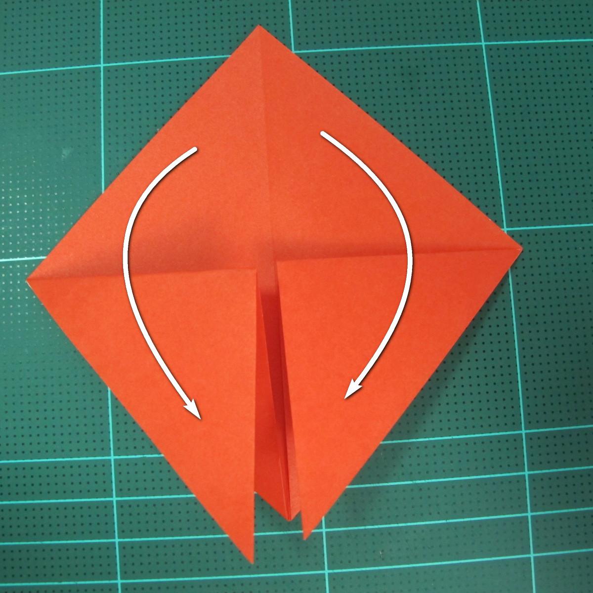 การพับกระดาษเป็นนกพิราบ (Origami pigeon) 00005
