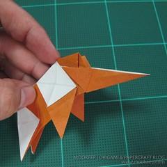 วิธีพับกระดาษเป็นรูปหมี (Origami Bear) 034
